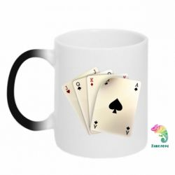 Кружка-хамелеон 4 cards - FatLine