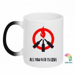 Кружка-хамелеон All you need is love (Коктейль Молотова) - FatLine