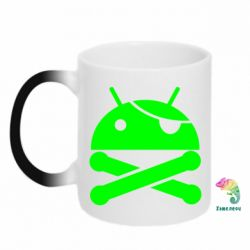 Кружка-хамелеон Android Pirate - FatLine