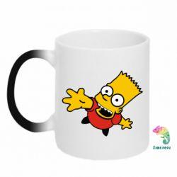 Кружка-хамелеон Барт Симпсон