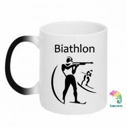 Кружка-хамелеон Biathlon