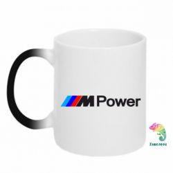 Кружка-хамелеон BMW M Power logo