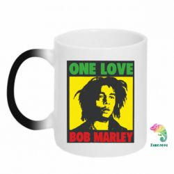Кружка-хамелеон Bob Marley One Love