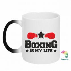 Кружка-хамелеон Boxing is my life