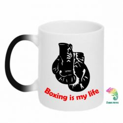 Кружка-хамелеон Boxing is my life - FatLine