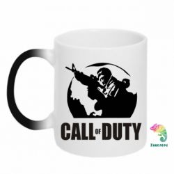 Кружка-хамелеон Call of Duty Logo