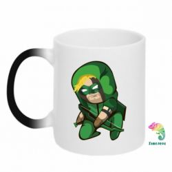 Кружка-хамелеон Cartoon Green Arrow