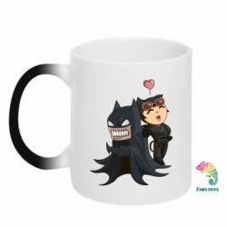 Кружка-хамелеон Catwoman and Angry Batman - FatLine