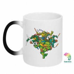 Кружка-хамелеон Черепашки-ниндзя - FatLine