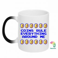 Кружка-хамелеон Coins rule everything around me - FatLine