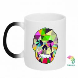Кружка-хамелеон Colorful Skull