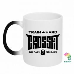 Кружка-хамелеон CrossFit Train Hard
