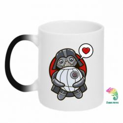 Кружка-хамелеон Darth Vader love Death Star - FatLine