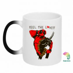 Кружка-хамелеон Deadpool Feel the love!