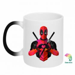 Кружка-хамелеон Deadpool Love