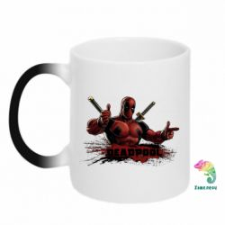 Кружка-хамелеон Deadpool Paint - FatLine