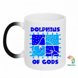 Кружка-хамелеон Dolphins of god