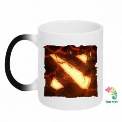 Кружка-хамелеон Dota 2 Fire Logo