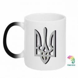Кружка-хамелеон Двокольоровий герб України