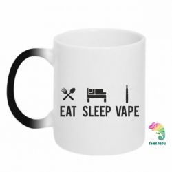 Кружка-хамелеон Eat, Sleep, Vape