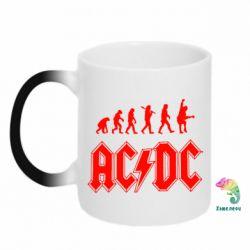 Кружка-хамелеон Эволюция AC\DC - FatLine