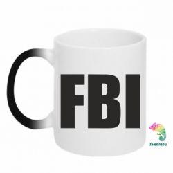 Кружка-хамелеон FBI (ФБР) - FatLine