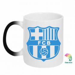 Кружка-хамелеон FC Barcelona - FatLine