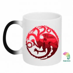 Кружка-хамелеон Fire and Blood - FatLine