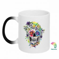 Кружка-хамелеон Flower Skull - FatLine