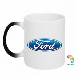 Кружка-хамелеон Ford 3D Logo - FatLine