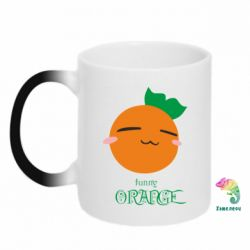 Кружка-хамелеон Funny orange