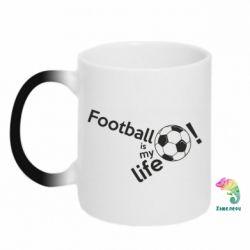 Кружка-хамелеон Футбол - моє життя!