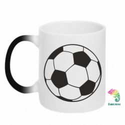 Кружка-хамелеон Футбольный мяч - FatLine