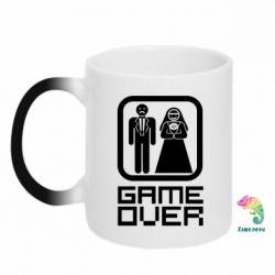 Кружка-хамелеон Game Over