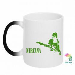 Кружка-хамелеон Гитарист Nirvana