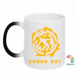 Кружка-хамелеон Green Day Logo
