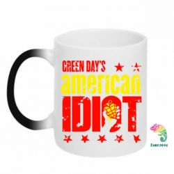 Кружка-хамелеон Green Day's American Idiot
