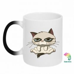 Кружка-хамелеон Grumpy Cat Art