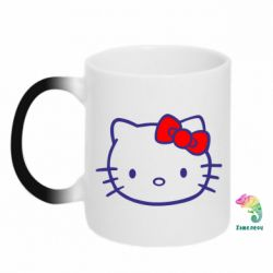 Кружка-хамелеон Hello Kitty logo