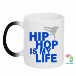 Кружка-хамелеон Hip-hop is my life - FatLine