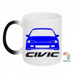 Кружка-хамелеон Honda Civic