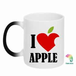 Кружка-хамелеон I love APPLE