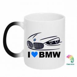 Кружка-хамелеон I love BMW 2 - FatLine