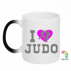 Кружка-хамелеон I love Judo