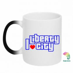 Кружка-хамелеон I love Liberty City - FatLine