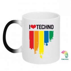 Кружка-хамелеон I love techno