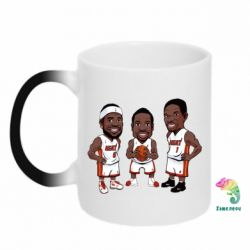 "Кружка-хамелеон ""James, Wade and Bosh"""