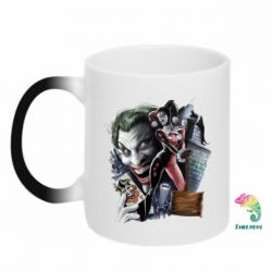 Кружка-хамелеон Joker, Batman, Harley Quinn