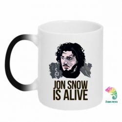 Кружка-хамелеон Jon Snow is alive