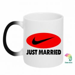 Кружка-хамелеон Just Married - FatLine